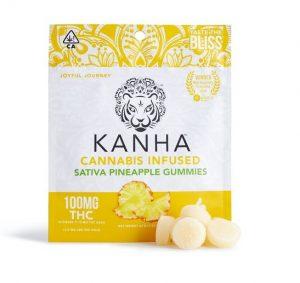 Kanha Sativa UK Pineapple Gummies 100mg