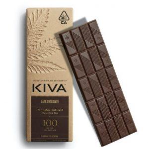 Kiva UK Dark Chocolate Bar - 100mg